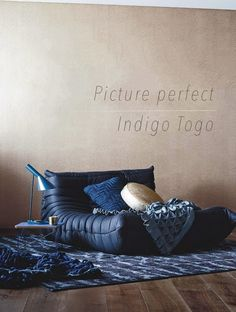 French By Design: Picture perfect : Indigo Togo Sofa