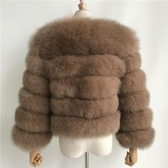 Luxurious 100% Genuine Thick Fox Fur Jacket Fox Fur Jacket, Fur Coat, Women's Fashion, Coats, Luxury, Leather, Jackets, Style