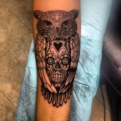 Owl half sleeve