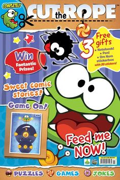 Om Nom now has his very own magazine! Sweet! Titan Magazines proudly presents Completely... Cut the Rope, the magazine all about Om Nom and everyone's favourite app. Grab your copy at newsagents and supermarkets in the United Kingdom today! http://titanmagazines.com/t/completely/uk/2/