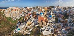 Santorini (Thira), Oia, Greece Russian Photographers Show How Birds See Our World And It'll Leave You Breathless Aerial Photography, Creative Photography, Cool Pictures, Cool Photos, Birds Eye View, Our World, Aerial View, Images, Around The Worlds