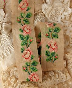 Pretty vintage lace and needlework.
