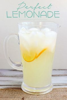 Perfect Lemonade - Is there a more cool and refreshing drink when the weather warms up?! This lemonade had the perfect balance for sweet and tart. Serve it up at your next get-together! #lemons #lemonade #beverage