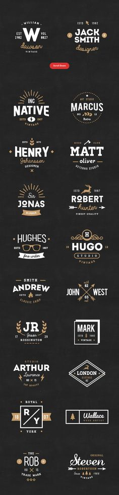 20 Vintage Logos&Badges (LIMITED FREE) by vuuuds on Behance