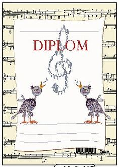 Dětský diplom A5 - Hudební Music Lesson Plans, Music Lessons, Book Cover Design, Book Design, Music Border, Creative Book Covers, School Border, Quilt Labels, Book Trailers