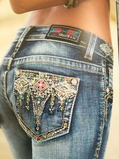Women Jeans Miss Me **** Click visit link to see Western Style, Country Girl Style, Country Fashion, Country Outfits, Cowgirl Style, Western Wear, My Style, Cowgirl Jeans, Cowgirl Tuff