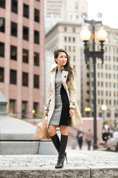 Modern Armor :: Cape dress & Classic trench