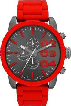 Diesel Watches Franchise Red  Gunmetal - via eBags.com! Luxusní Hodinky 5da959dfb61