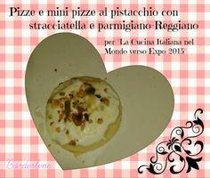 """""""Borderline: Pizze e mini pizze al pistacchio, stracciatella e Parmigiano Reggiano (gluten free)"""", di Audrey del blog """"Borderline"""" http://borderline83.blogspot.it/2014/05/pizze-e-mini-pizze-al-pistacchio.html"""