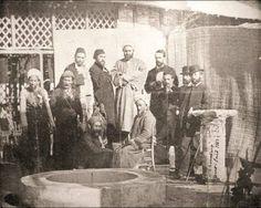 Emir Abd El-kader El Djezairi (top row in white turban) with Isma'il Pasha (Khedive of Egypt and Sudan) during the opening of the Suez Canal in Egypt; 1869. #Mysticism #Islam #Sufism #Spirituality #Egypt #Algeria #Suez