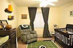 "Our perfect ""little man cave""/nursery for our little guy! #GoPackGo #GreenBay #Packers"