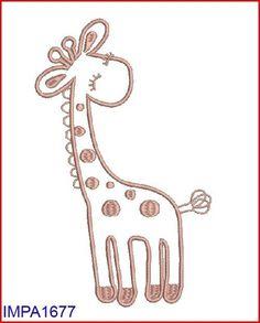 M2MG Giraffe Digitized Applique Embroidery Machine Design Pattern 4x4 5x7 6x10. $3.00, via Etsy.