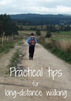 Practical tips for long-distance walking