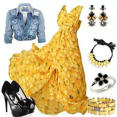 Beautiful yellow maxi dress