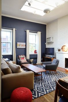 """Bethany says her favorite element is """"The high ceilings. They make the space feel larger even though the dimension goes up and not around."""""""