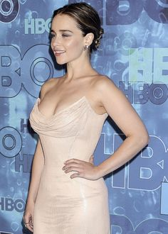 """""""Emilia Clarke attends the HBO Emmy's After Party in Los Angeles on September 18th. """""""