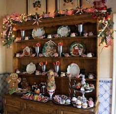 Awesome Christmas Hutch Displays Complete Home Design Collection Barbaintelli Responsecom