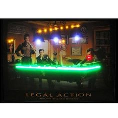 """Neon Art: Legal Action Neon and LED Light Picture by Brookstone. $121.20. Size: 24""""H x 32""""W x 2""""D. Great for any home, office or billiard room!. Plugs into regular outlets!. Color: Multicolor. Ready to hang!. Neon Art: Legal Action Neon and LED Light Picture. Focused on bringing the fun and beauty of real neon into your home or business! This Legal Action Neon/LED Picture gives a colorful edge with real neon lights and L.E.D. accents. Legal Action Neon/LED Picture features..."""