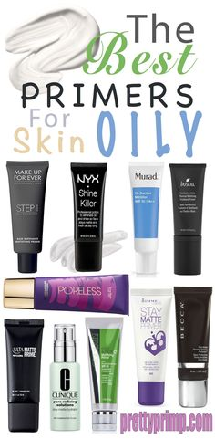 The best foundation primers from the drugstore AND high end. Use these primers t… The best foundation primers from the drugstore AND high end. Use these primers to make your makeup matte and keep your face from looking oily. Best Foundation Primer, Best Primer For Oily Skin, Beste Foundation, Best Drugstore Primer, Best Matte Primer, Oily Skin Foundation, Best High End Foundation, Foundation Stick, Beauty Tips