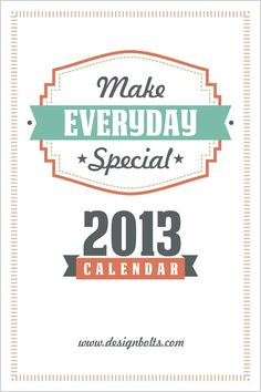 Free 2013 calendar printable 20 New Year 2013 Wall & Desk Calendar Designs For Inspiration
