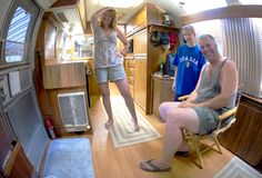 Fish eye's view inside our 1985 31 ft Limited Airstream, Home Appliances, Desk, Cool Stuff, Furniture, Home Decor, House Appliances, Desktop, Decoration Home