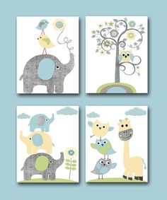 Childrens Art Kids Wall Art Baby Boy Room Decor by artbynataera, $60.00