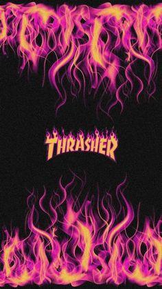 Thrasher Flame Skate Wallpaper In 2020 | Iphone Wallpaper