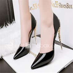 47de29d747ae3 Femme Chaussures Cuir Verni Printemps   Eté club de Chaussures Chaussures à  Talons Marche Talon Aiguille Gris foncé   Argent   Rose   Mariage   Soirée  ...