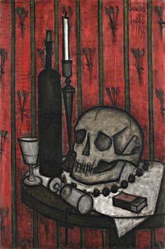 Bernard BUFFET (1928-1999) Vanité,1954 Huile sur toile Sold 120000€ #artauction