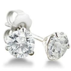 1ct Round Diamond Stud Earrings in 14k White Gold with Martini Setting, HI SI2-I1 SuperJeweler,http://www.amazon.com/dp/B009DH4JCQ/ref=cm_sw_r_pi_dp_5.h9rb0DE0YEBPX8