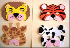 Moldes para máscaras en foami