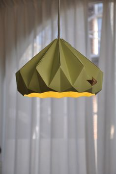 Folded paper lamps by Studio Snowpuppe