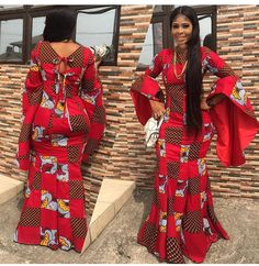 The complete collection of Exotic Ankara Gown Styles for beautiful ladies in Nigeria. These are the ideal ankara gowns Ankara Long Gown Styles, Ankara Styles For Women, Latest Ankara Styles, African Dresses For Women, African Print Dresses, African Print Fashion, Africa Fashion, African Attire, African Wear