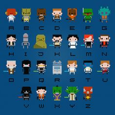 Star Wars Cross Stitch Alphabet Pattern t-shirt.