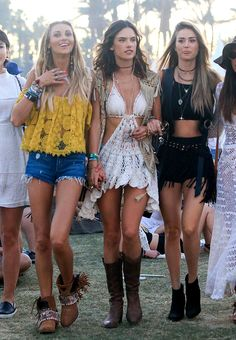 Coachella 2016 Best Look Coachella 2016, Festival Coachella, Music Festival Outfits, Music Festival Fashion, Festival Wear, Grunge Look, Boho Chic, Festival Looks, Rave Outfits