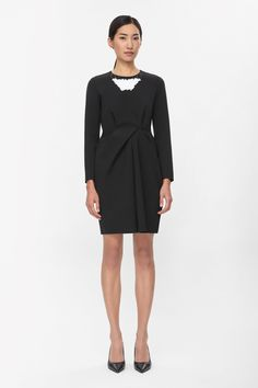 COS Draped front dress