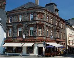 Slate & red sandstone building in Bernkastel - Google Search