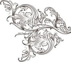 wouldn't this be awesome in a quilt, I love acanthus leaf designs