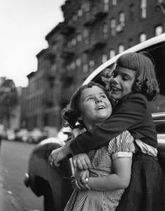 Friends, from the series Portraits Of Children, West Village, New York City, New York, United States, 1943, photograph by Ruth Orkin.