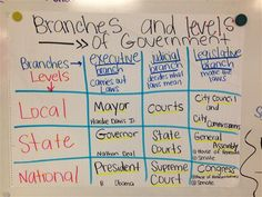 branches of government anchor chart - Google Search