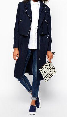 long navy coat