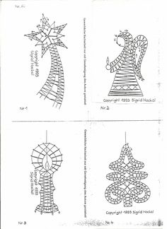 bobbin lace making patterns for beginners Crochet Christmas Trees, Christmas Sewing, Advanced Embroidery, Bobbin Lacemaking, Bobbin Lace Patterns, Embroidery Designs, Lace Jewelry, Heirloom Sewing, Needle Lace