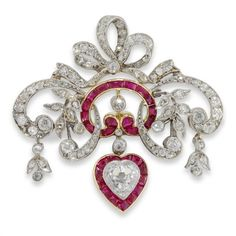 An Edwardian ruby and diamond brooch pendant ($12,265) ❤ liked on Polyvore featuring jewelry, pendants, edwardian pendant, ruby pendant, ruby jewellery, ruby jewelry and diamond jewelry