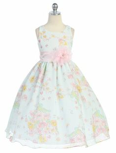 Sky Blue Floral Organza Baby & Girls Dress  Style: D3920  Our Price: $46.99
