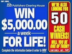 PCH Win it all sweepstakes 2017 Publishers Clearing House Instant Win Sweepstakes, Online Sweepstakes, Enter To Win, I Win, Helping Other People, Helping Others, Win For Life, Lottery Winner, Lotto Lottery