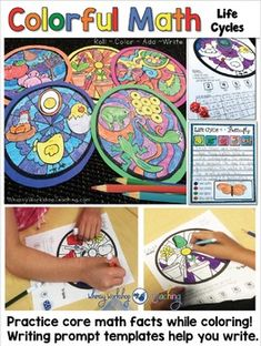 How can you integrate art, math, writing and science into a NO PREP writing center activity? Use Colorful Math templates to brighten up your classroom! Math Writing, Math 5, Maths Puzzles, Fun Math, Teaching Math, Science Activities, Writing Activities, Activity Centers, Math Centers