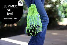 DIY Summer Net Bag for London Times Blog