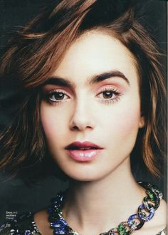 Lily Collins. Pinks.