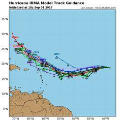 Modelos de trayectorias Irma - Noticias en Línea Puerto Rico