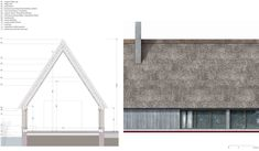 Image 8 of 14 from gallery of Great Fen Visiting Center Competition Entry / Arrigoni Architetti. Roof Architecture, Chinese Architecture, Architecture Drawings, Architecture Details, Roof Design, Facade Design, Staircase Design, Thatched House, Thatched Roof
